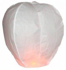 10 x Lanternes Blanches chinoise celestes volantes biodégradable pour fêtes , moments romantiques et magiques de la marque Sky Lanterns image 0 produit
