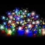100 DEL guirlandes lumineuses solaires en forme de fleurs de multi-couleurs par SPV Lights: les lampes solaires et les spécialistes de l'éclairage de la marque SPV Lights image 1 produit