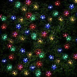 100 DEL guirlandes lumineuses solaires en forme de fleurs de multi-couleurs par SPV Lights: les lampes solaires et les spécialistes de l'éclairage de la marque SPV Lights image 0 produit
