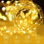 100 LED Guirlande Solaire Blanc Chaud, LiSmile Guirlande Lumineuses Solaire Etanche 8 Modes de Lumière LED Solaire avec Fil Cuivre Déco pour Noël, Fêtes, Maison, Jardin, Mariage, Arbre Extrieur etc de la marque LiSmile image 2 produit