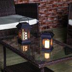 2 Lanternes Solaires avec Bougie LED Effet Vacillant (Piles Rechargeables Incluses) Waterproof de la marque Festive Lights image 1 produit