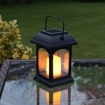 2 Lanternes Solaires avec Bougie LED Effet Vacillant (Piles Rechargeables Incluses) Waterproof de la marque Festive Lights image 2 produit