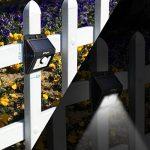 [2 PACK] Mpow Lampe Solaire LED Etanche Faro Lumiere 8 LED avec paneau solaire / Luminaire exterieur Sans Fil avec Détecteur de Mouvement/ Eclairage exterieur Solaire pour Jardin, Patio, Pont, Allée et Garage comme applique exterieur de la marque Mpow image 6 produit