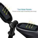 [2 PACK ] Spot solaire à LED à planter Mpow 2 en 1 Applique solaire d'extérieur à détection de mouvements / Luminaire exterieur, 2 Paneaux solaires au degré de 120 réglable / lampe solaire jardin sans fil, 2Modes de Luminosité, 20 Heures de travail,IP image 1 produit