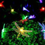 [20 LED 8 modes]Fée Guirlande lumineuse solaire Extérieur Imperméable Motif libellule LED pour jardin, patio, jardin, clôture, arbre de Noël, les fêtes, mariage, décoration(Multicolore) de la marque MagicLux Tech image 1 produit