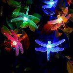 [20 LED 8 modes]Fée Guirlande lumineuse solaire Extérieur Imperméable Motif libellule LED pour jardin, patio, jardin, clôture, arbre de Noël, les fêtes, mariage, décoration(Multicolore) de la marque MagicLux Tech image 2 produit