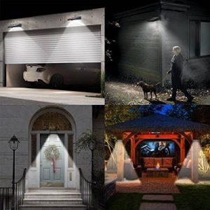 Patio Jardin 3 LED Eclairage Exterieur avec Capteur ...