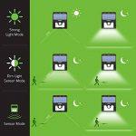 [4 PACK] Mpow Lampe Solaire LED Etanche Faro Lumiere 8 LED avec paneau solaire / Luminaire exterieur Sans Fil avec Détecteur de Mouvement/ Eclairage exterieur Solaire pour Jardin, Patio, Pont, Allée et Garage comme applique exterieurcurité / Lampe Solaire image 3 produit