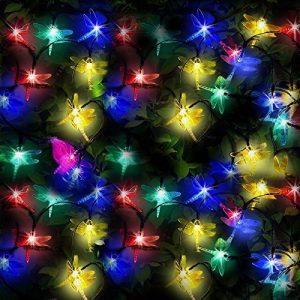 50 DEL Lumières solaires multicolores en forme de libellules par SPV Lights: les lampes solaires et les spécialistes de l'éclairage (2 ans gratuit garantie) de la marque SPV Lights image 0 produit