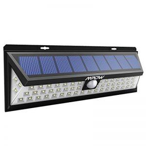 [54 LED] Mpow Lampe solaire extérieure Etanche 1188 lumens Luminaire exterieur/ Eclairage exterieur 270 ° Grand Angle reglable avec détecteur de mouvement et Paneau Solaire pour Pati, jardin, cour, chemin,escaliers, clôture de la marque Mpow image 0 produit