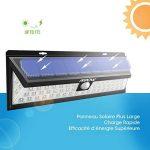 [54 LED] Mpow Lampe solaire extérieure Etanche 1188 lumens Luminaire exterieur/ Eclairage exterieur 270 ° Grand Angle reglable avec détecteur de mouvement et Paneau Solaire pour Pati, jardin, cour, chemin,escaliers, clôture de la marque Mpow image 3 produit