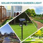 6 LED Lampe Solaire Lumière Solaire Projecteur Lumière de Sécurité Etanche Spot Solaire Extérieur 2 en 1 Lampe Murale Eclairage en Terre Réglable avec Panneau Solaire 350 Lumens pour Jardin Spots Encastrés de Sol d'Arbre Allée Cour Sentier Terrasse Arrièr image 5 produit