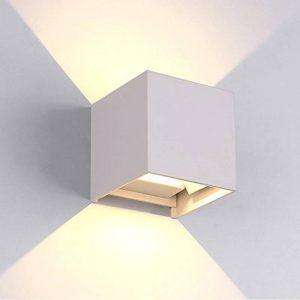 7W Moderne Led Applique Murale Interieur / Exterieur Blanche, Anti-Eau IP65 Réglable Lampe Up and Down Design 3000K Blanc Chaud pour Chambre Maison Couloir Salon de la marque Flyv image 0 produit