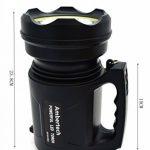 Ambertech 10000 Lumens Lanterne robuste Torche LED puissante Lampe de poche rechargeable Projecteur extérieur super brillant de la marque Ambertech image 1 produit