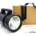 Ambertech 10000 Lumens Lanterne robuste Torche LED puissante Lampe de poche rechargeable Projecteur extérieur super brillant de la marque Ambertech image 3 produit