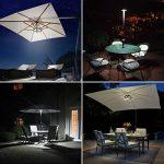 AMIR Lampes pour Parasol, 24 LED Sans Fil Lampes, 3xAA Battery Operated, Ext¨¦rieure/Int¨¦rieure, Parasol de Jardin, ou Tentes de Camping(Noir) de la marque AMIR image 1 produit