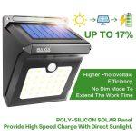 BAXiA 28 LED Lumière Solaire, Ampoule de sécurité avec Détecteur de Mouvement solaire sans fil pour l'extérieur, mur extérieur, jardin, terrasse, cour(Lot de 2) de la marque BAXiA image 3 produit