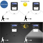 BAXiA 28 LED Lumière Solaire, Ampoule de sécurité avec Détecteur de Mouvement solaire sans fil pour l'extérieur, mur extérieur, jardin, terrasse, cour(Lot de 2) de la marque BAXiA image 2 produit
