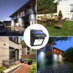 BAXiA 28 LED Lumière Solaire, Ampoule de sécurité avec Détecteur de Mouvement solaire sans fil pour l'extérieur, mur extérieur, jardin, terrasse, cour(Lot de 2) de la marque BAXiA image 5 produit