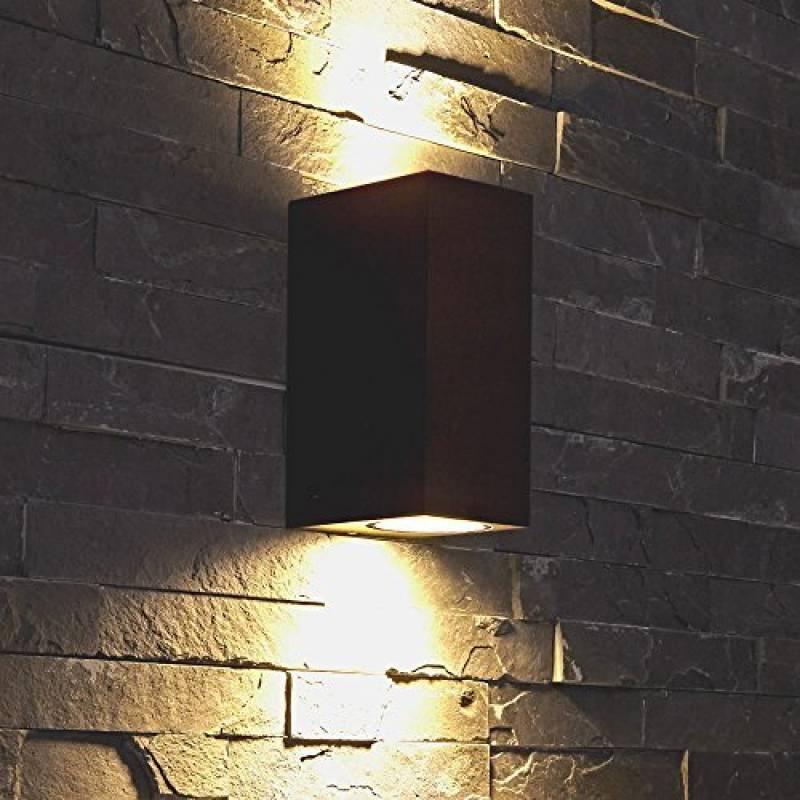 7e1b4f67ef85a Biard ® - Applique Extérieure Murale - LED GU10 - Économique   Design  Rectangulaire - Double Faisceau - Éclairage Jardin de la marque Biard