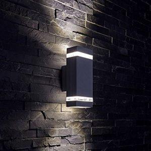 Biard ® - Applique Extérieure Murale - LED GU10 - Économique Double Faisceau - Design Rectangulaire Noir de la marque Biard image 0 produit