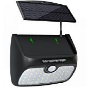 Brennenstuhl Lampe LED murale solaire avec détecteur de mouvements & capteur crépusculaire, projecteur (IP 44) à LED (2 x 30 lm), argent, Quantité : 1 de la marque Brennenstuhl image 0 produit