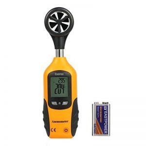 Cadrim Anémomètre Numérique,Jauge de Vitesse du Vent Thermomètre Mesure Vitesse du Vent avec Ecran Rétro-Eclairage LCD pour Cerf Volant, Drones, Voile, Parapente, Pêche de la marque Cadrim image 0 produit