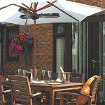 Chauffage de jardin électrique Trois lampes, chauffage terrasse, chauffage pour parasol - Infrarouge Halogène - 2000w de la marque interougehome image 1 produit