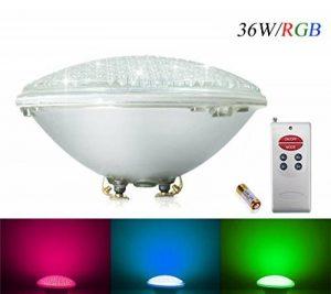 COOLWEST RGB 36W Lampe de Piscine Lumière LED PAR56 12V DC/AC, contrôle par télécommande, Etanche IP68 Éclairage sous-marin de la marque COOLWEST image 0 produit