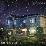 COOSA Projecteur de Lumiere Rouge et Vert 2-en-1 Projecteur Extérieur Lumimère de Jardin étanche Lampe Décorative de Noël pour Pelouse/Jardin/Décoration murale avec Télécommande (Rouge + Vert) de la marque COOSA image 2 produit