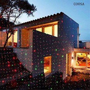 COOSA Projecteur de Lumiere Rouge et Vert 2-en-1 Projecteur Extérieur Lumimère de Jardin étanche Lampe Décorative de Noël pour Pelouse/Jardin/Décoration murale avec Télécommande (Rouge + Vert) de la marque COOSA image 0 produit
