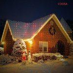 COOSA Projecteur de Lumiere Rouge et Vert 2-en-1 Projecteur Extérieur Lumimère de Jardin étanche Lampe Décorative de Noël pour Pelouse/Jardin/Décoration murale avec Télécommande (Rouge + Vert) de la marque COOSA image 1 produit