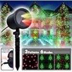 COOWOOO Projecteur Led éclairage de Noël pour l'intérieur et l'extérieur rouge-vert avec 8 motifs de la marque Coowoo image 1 produit