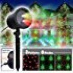 COOWOOO Projecteur Led éclairage de Noël pour l'intérieur et l'extérieur rouge-vert avec 8 motifs de la marque Coowoo image 13 produit