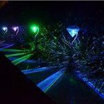 Cuzile Lot de 4LED solaires Diamant sur piquet à changement de couleur pour Jardin Pelouse Chemin de la marque CuZiLe image 5 produit