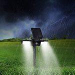 Eclairage 24leds Solaire à Detecteur, Anti pluie et Lumiere Orientable Spot Exterieur Autonome Pour Allé Terrasse Cour Bassin et Chemin Fontaine de la marque GrandBeing image 3 produit