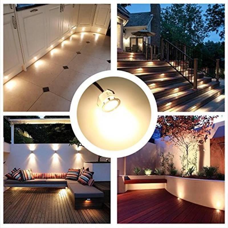 encastr led terrasse bois luminaire kits 12v basse tension blanc chaud 22mm tanche ip 67 lampe terrasse led encastrable pour eclairage extrieur