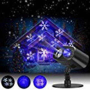 GAXmi Projecteur noël LED Extérieur Lumière tombante de neige blanc Averses de neige Lampes Projecteur LED Projecteur tournant de la marque GAXmi image 0 produit