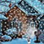 GAXmi Projecteur noël LED Extérieur Lumière tombante de neige blanc Averses de neige Lampes Projecteur LED Projecteur tournant de la marque GAXmi image 13 produit