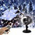 GAXmi Projecteur noël LED Extérieur Lumière tombante de neige blanc Averses de neige Lampes Projecteur LED Projecteur tournant de la marque GAXmi image 14 produit