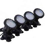 GEEDIAR 36 LED Spot Led Submersible Ampoule / Lampe LED Etanche 1 set avec 4 Lumineuse LED RGB 36 Colorful Aquarium Spot Light avec 24 Télécommande IR Key (6w+24key) de la marque GEEDIAR image 1 produit