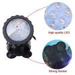 GEEDIAR 36 LED Spot Led Submersible Ampoule / Lampe LED Etanche 1 set avec 4 Lumineuse LED RGB 36 Colorful Aquarium Spot Light avec 24 Télécommande IR Key (6w+24key) de la marque GEEDIAR image 3 produit
