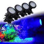 GEEDIAR 36 LED Spot Led Submersible Ampoule / Lampe LED Etanche 1 set avec 4 Lumineuse LED RGB 36 Colorful Aquarium Spot Light avec 24 Télécommande IR Key (6w+24key) de la marque GEEDIAR image 4 produit