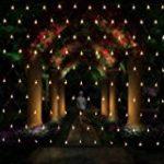 Glighone Guirlande Rideau Lumineux 600 LEDs Intérieur Extérieur Etoiles Lumières Féeriques Eclairage Décoration pour Fenêtre Fête Noël Soirée Mariage Jardin Parasol Blanc Froid 8 Modes 6Mx3M de la marque Glighone image 1 produit