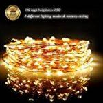Glighone Guirlande Rideau Lumineux 600 LEDs Intérieur Extérieur Etoiles Lumières Féeriques Eclairage Décoration pour Fenêtre Fête Noël Soirée Mariage Jardin Parasol Blanc Froid 8 Modes 6Mx3M de la marque Glighone image 22 produit