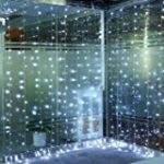 Glighone Guirlande Rideau Lumineux 600 LEDs Intérieur Extérieur Etoiles Lumières Féeriques Eclairage Décoration pour Fenêtre Fête Noël Soirée Mariage Jardin Parasol Blanc Froid 8 Modes 6Mx3M de la marque Glighone image 3 produit