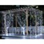 Glighone Guirlande Rideau Lumineux 600 LEDs Intérieur Extérieur Etoiles Lumières Féeriques Eclairage Décoration pour Fenêtre Fête Noël Soirée Mariage Jardin Parasol Blanc Froid 8 Modes 6Mx3M de la marque Glighone image 7 produit