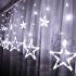 Glighone Guirlande Rideau Lumineux 600 LEDs Intérieur Extérieur Etoiles Lumières Féeriques Eclairage Décoration pour Fenêtre Fête Noël Soirée Mariage Jardin Parasol Blanc Froid 8 Modes 6Mx3M de la marque Glighone image 9 produit