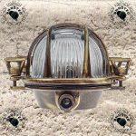 Gloria- Applique d'extérieur hublot , Lampe ovale en laiton Applique murale marine nautique Lumière vintage industrielle , Lampe de bateau de la marque BrootZo image 3 produit