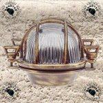 Gloria- Applique d'extérieur hublot , Lampe ovale en laiton Applique murale marine nautique Lumière vintage industrielle , Lampe de bateau de la marque BrootZo image 5 produit